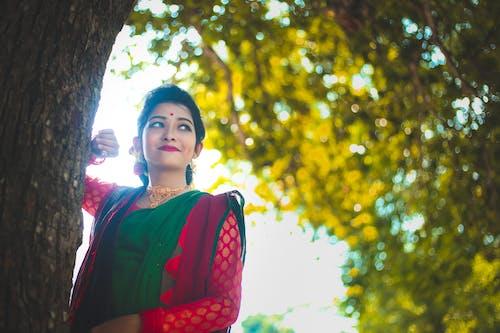 Imagine de stoc gratuită din arbore, cer, dedesubt, femeie