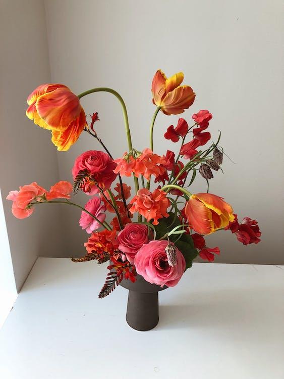 Photo Of Flowers In Vase