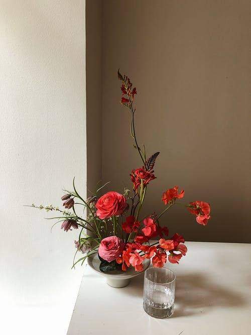 Photo Of Flowers In Vase