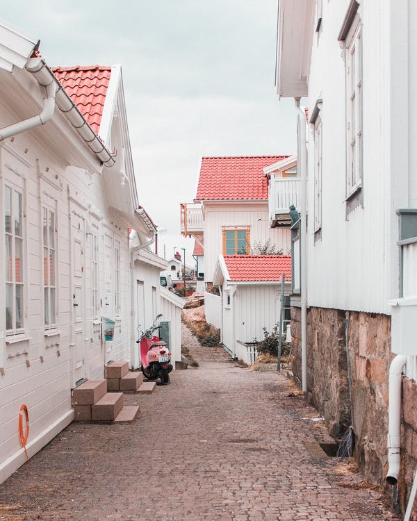 An Alley Between Buildings