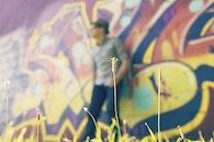 man, person, graffiti