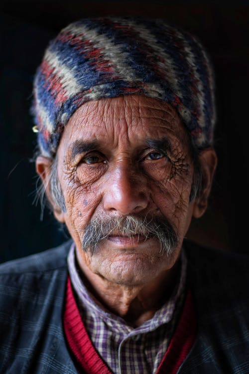 Portrait Photo of an Elderly Man