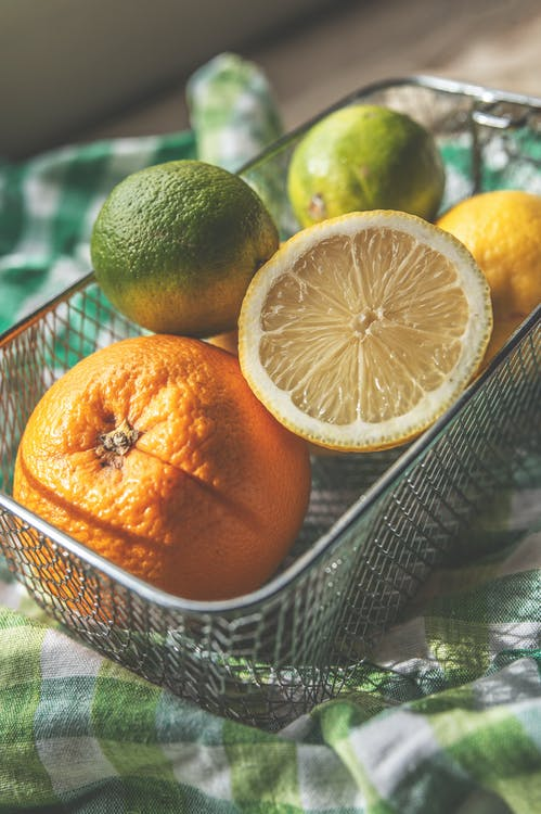 Oranges And Citrus In A Fruit Tray