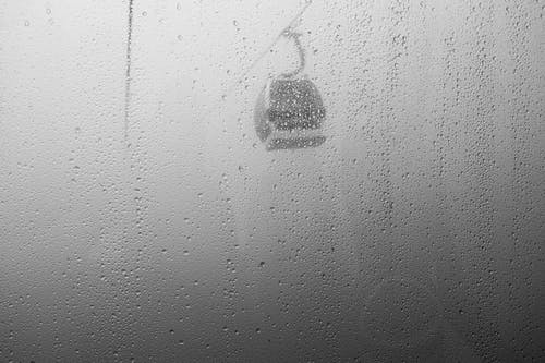 Free stock photo of black and white, cableway, mist