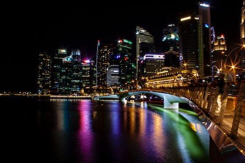 คลังภาพถ่ายฟรี ของ มาริน่าเบย์แซนด์, สะพานกาญจนาภิเษก, สิงคโปร์