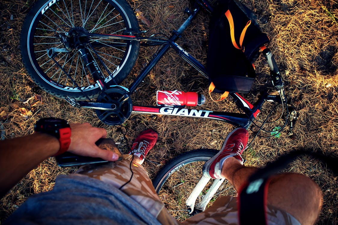 Red and Black Giant Mountain Bike