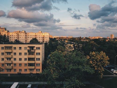 Kostnadsfri bild av betongdjungel, blockera, dramatisk himmel, gryning