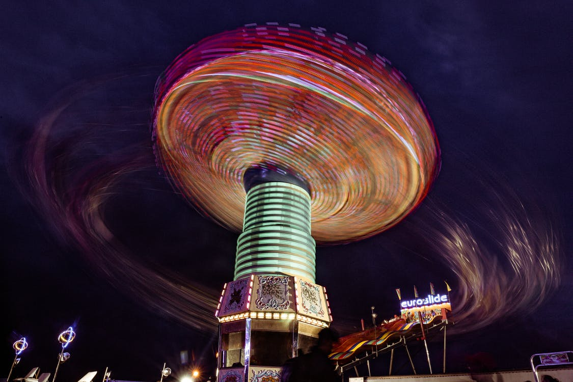 Amusement Ride In Low Angle Photography