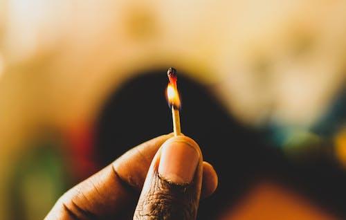 匹配,配对,适合, 手指, 火, 火柴棒 的 免费素材照片