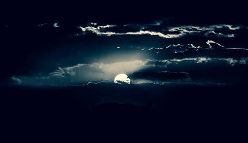 夜間攝影, 月亮, 月光 的 免费素材照片