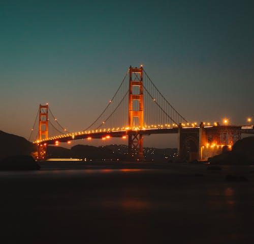 Gratis stockfoto met amerika, architectuur, attractie, avond
