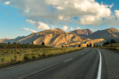 Free stock photo of clouds, eastern sierras, highway
