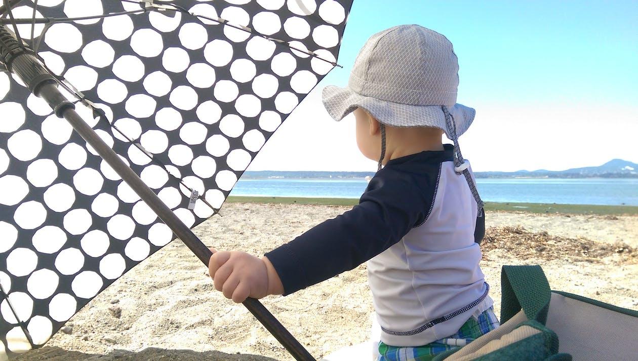 baby, beach, summer