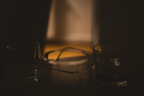 Free stock photo of coffee, dramatic, glass