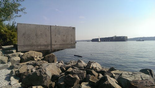 Free stock photo of cargo ship, concrete, elliott bay