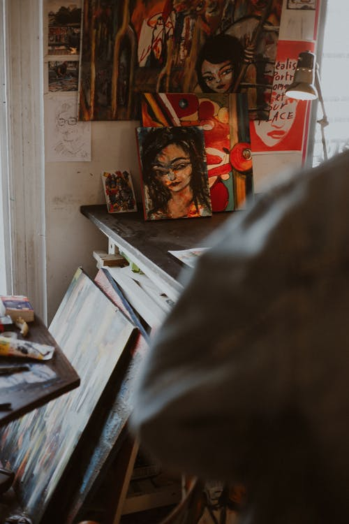 Paintings In An Art Workshop