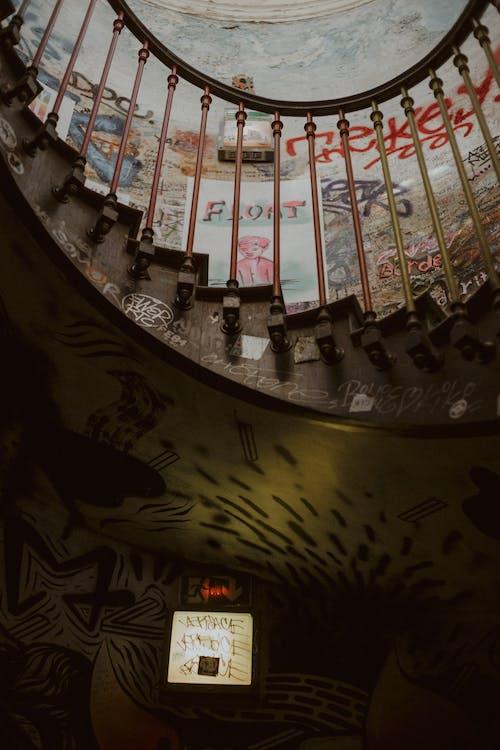 건축, 나선형 계단, 로우앵글 샷, 프랑스의 무료 스톡 사진