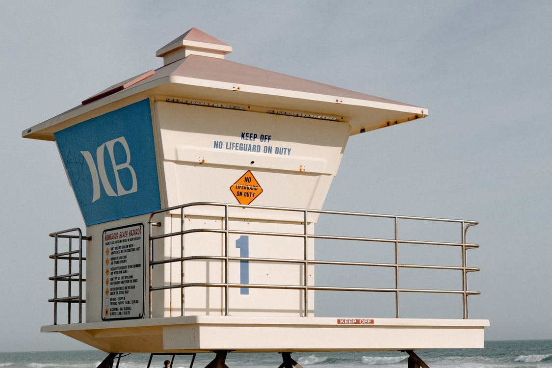 White Guard Tower on Beach