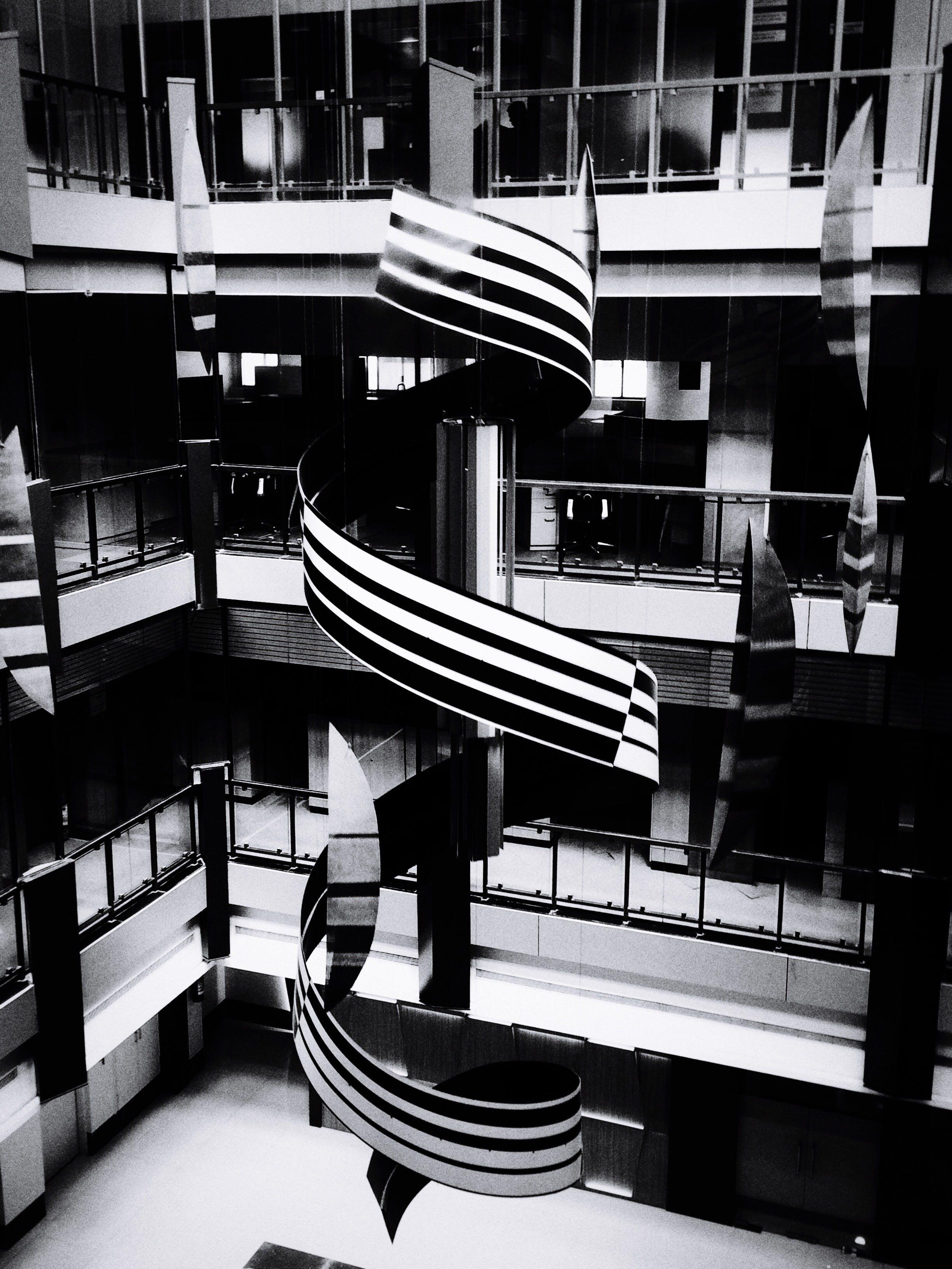 คลังภาพถ่ายฟรี ของ การออกแบบตกแต่งภายใน, ขาวดำ, ร่วมสมัย, สถาปัตยกรรม