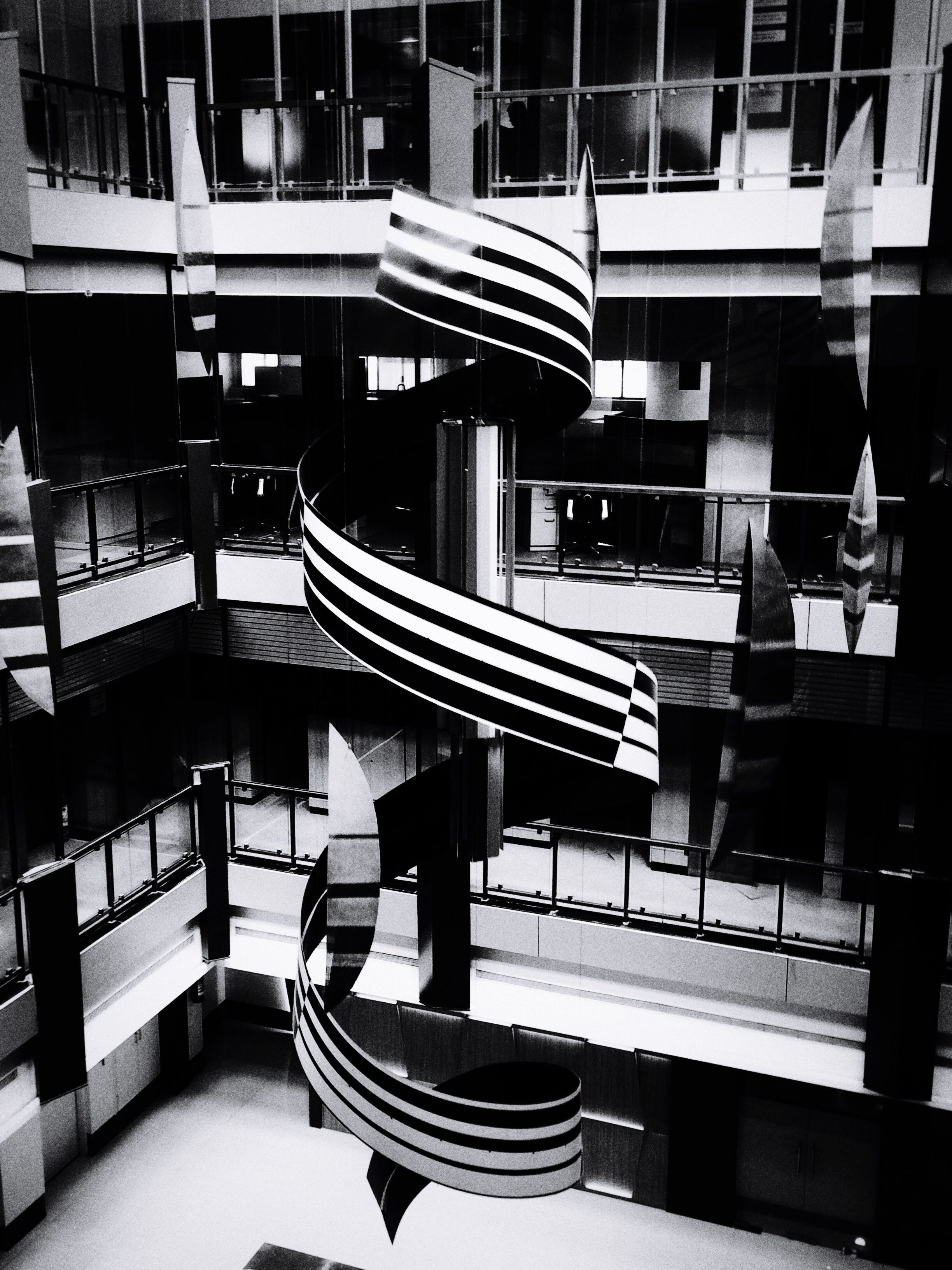 architecture, black-and-white, contemporary