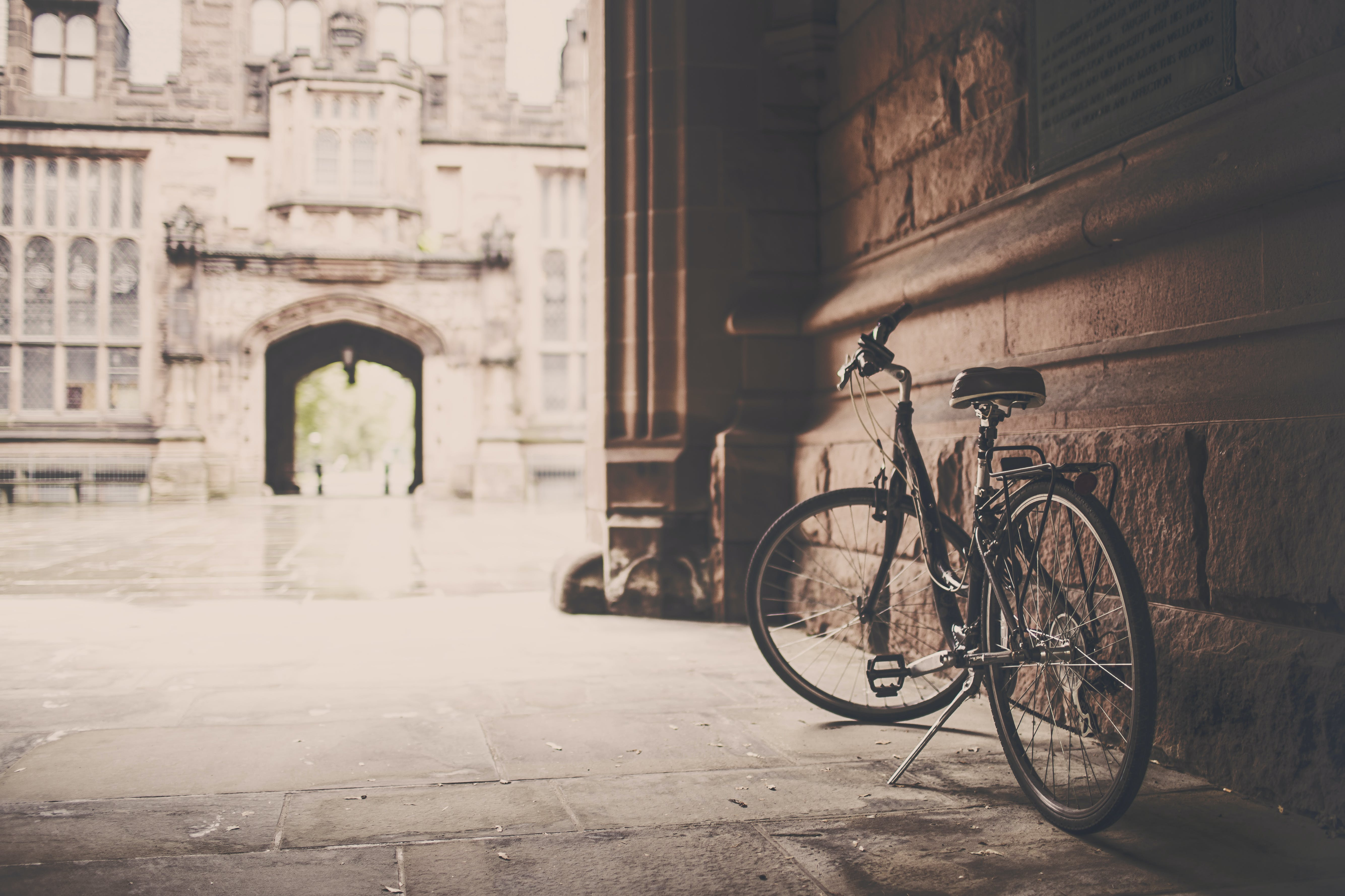Free stock photo of building, vintage, bike, monument