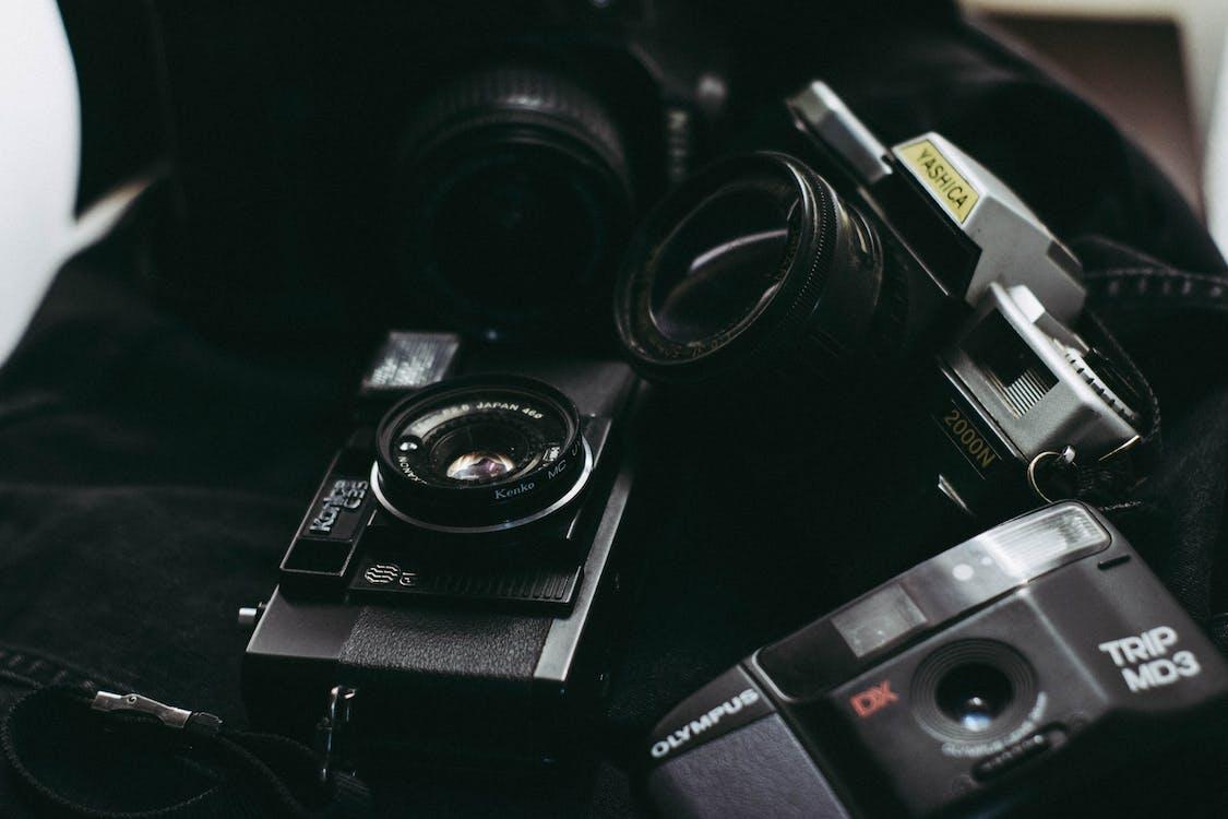 Analogique, ancien appareil photo, antiquité