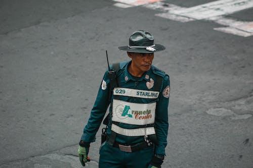 Man Wearing Officer Uniform