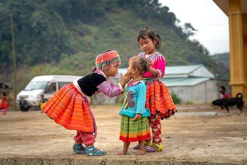 きょうだい, アジアの子供たち, キッズ, グループの無料の写真素材