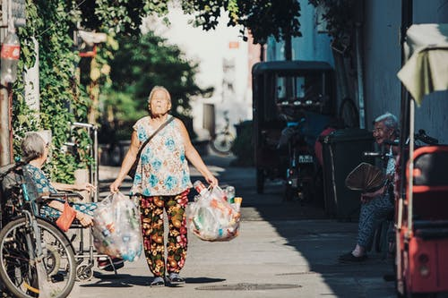 Imagine de stoc gratuită din adult, asiatici, bătrână, caldarâm