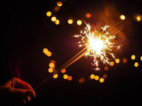 Free stock photo of light, holiday, hand, fireworks