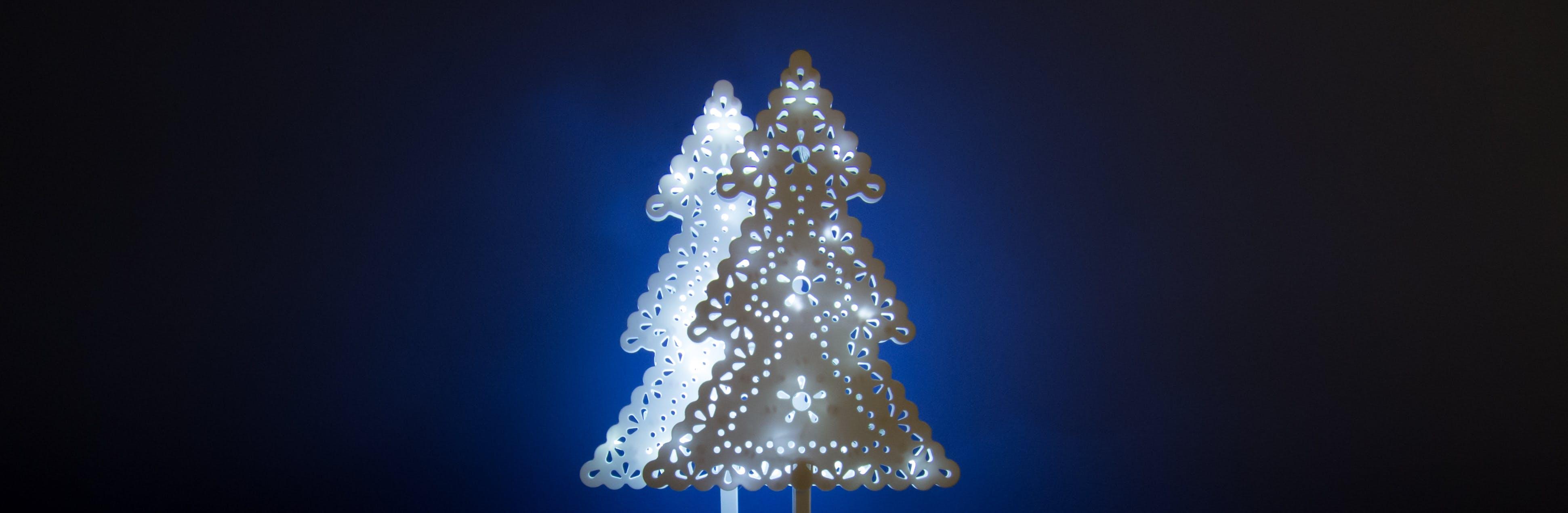 Free stock photo of light, holiday, blue, tree