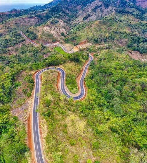Бесплатное стоковое фото с Аэрофотосъемка, вид, гора, горные хребты