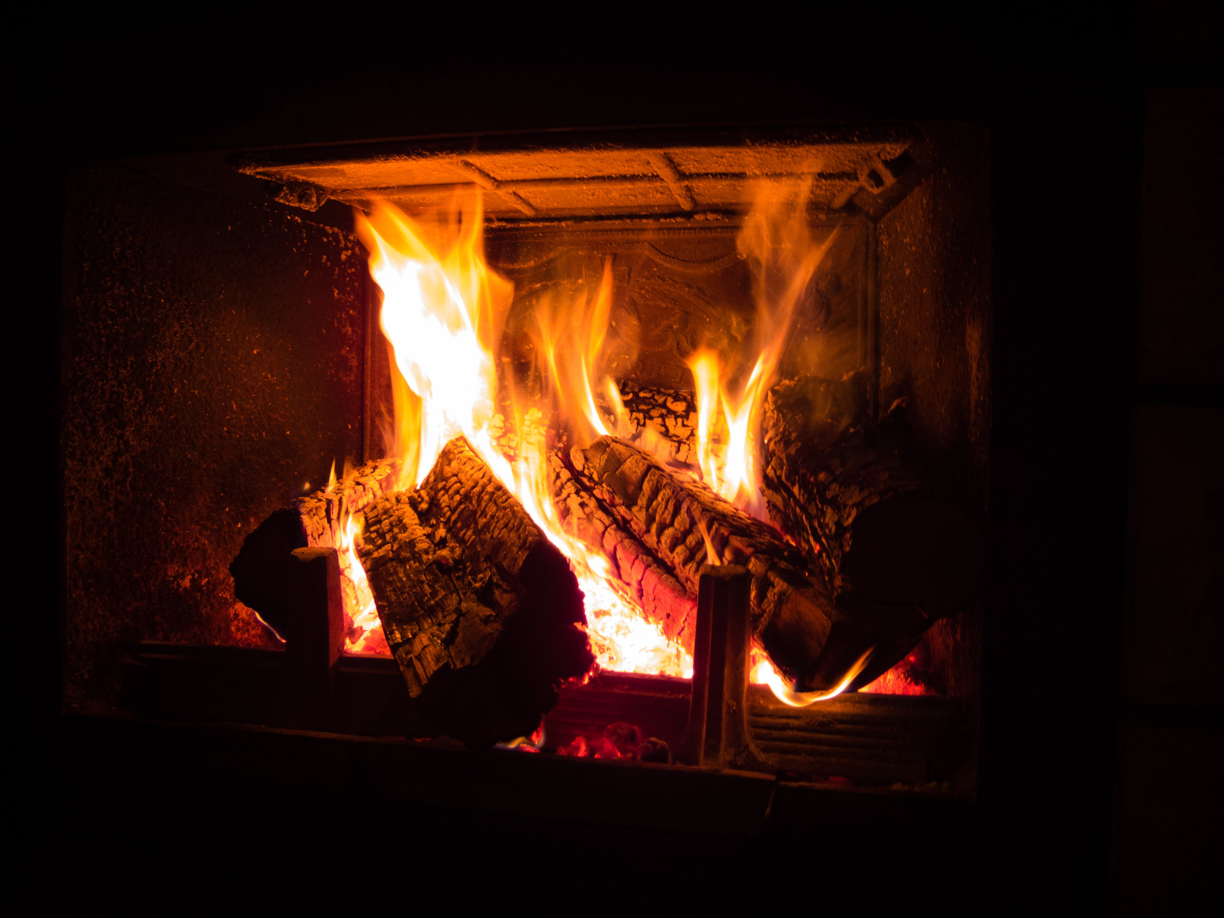 Free stock photo of burning, by the fireplace, cabin, evening
