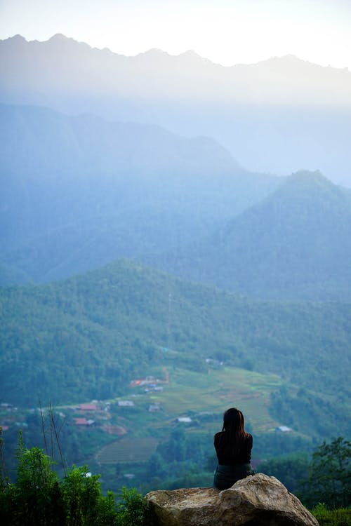 Free stock photo of aerial photography, art photo, beauty in nature, blue mountains