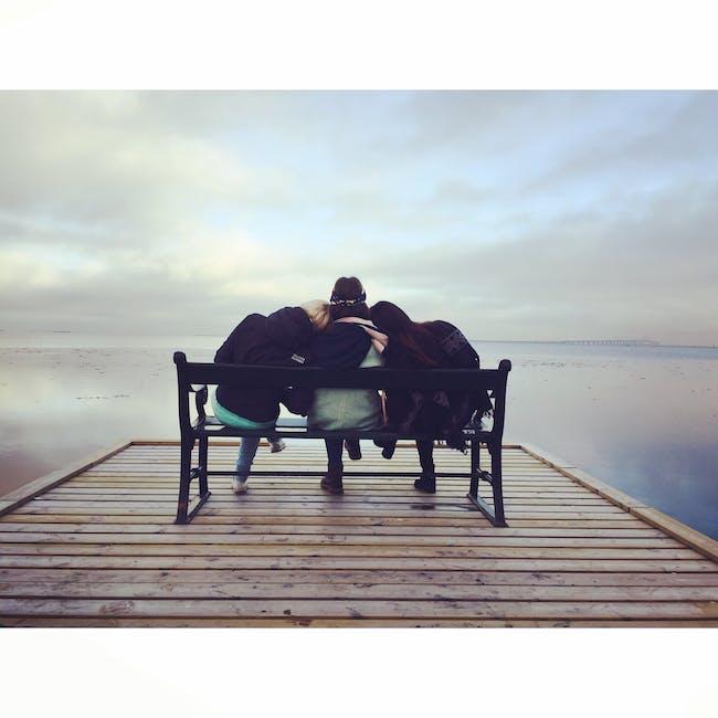 bench, chair, friends