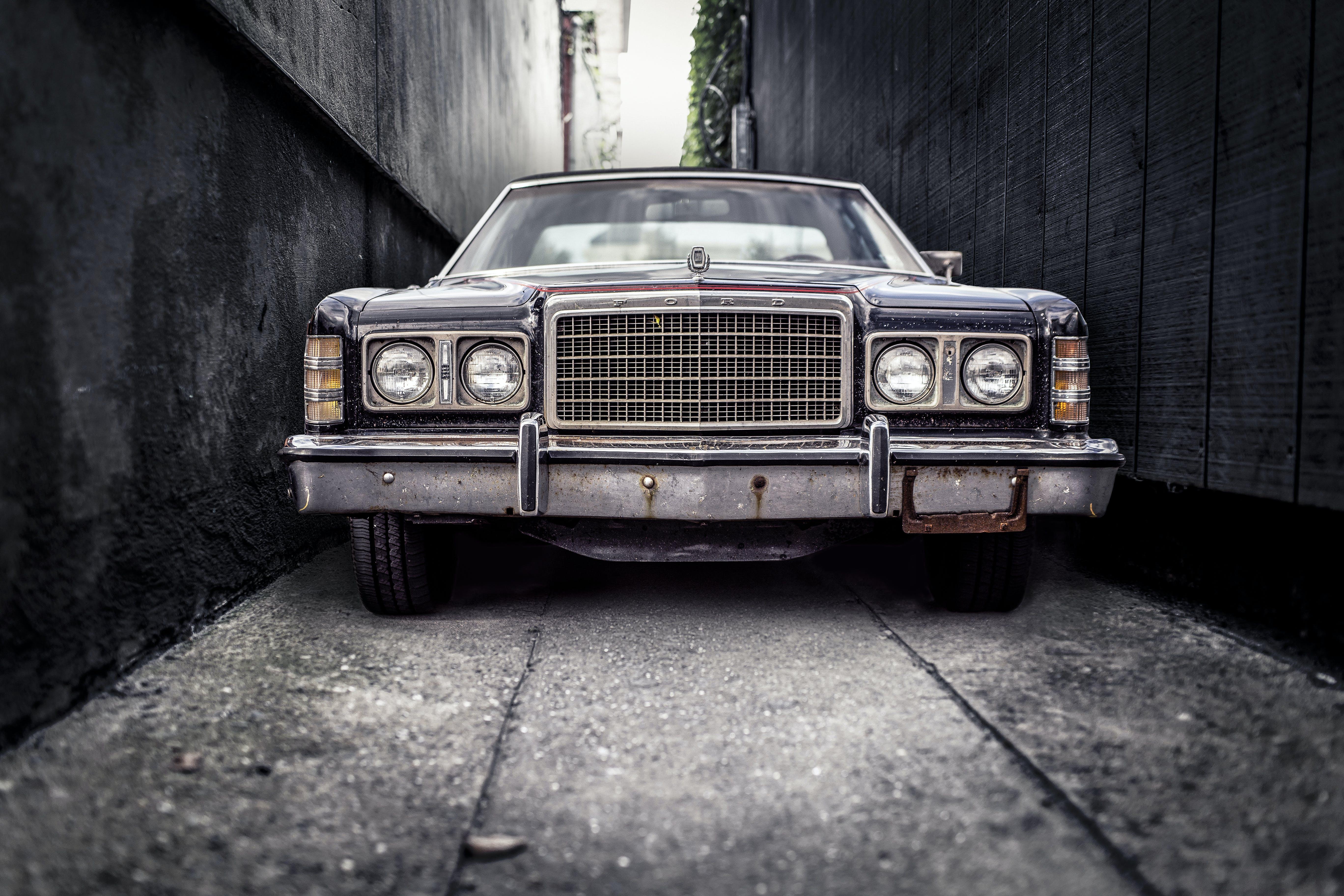 Vintage Black Sedan