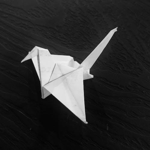 Free stock photo of origami, white swan