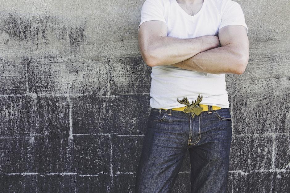 adult, belt, biceps