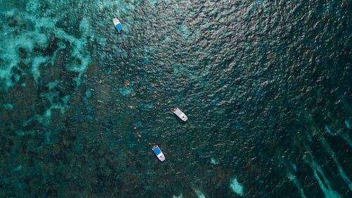 Ingyenes stockfotó csónakok, drón, felület, fényes témában