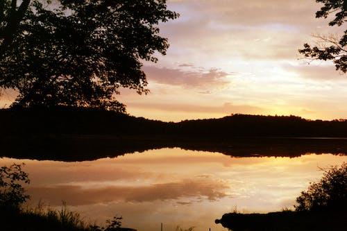 Бесплатное стоковое фото с восход, закат, озеро, пастельные цвета