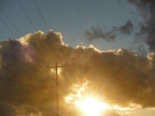Бесплатное стоковое фото с восход, закат, линии электропередач, линия электропередачи
