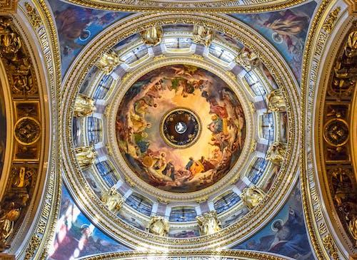 Δωρεάν στοκ φωτογραφιών με αρχιτεκτονική, διακόσμηση, εκκλησία, εσωτερική διακόσμηση