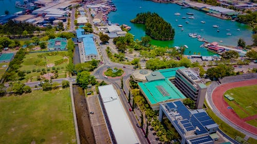 Photos gratuites de dji, drone, île