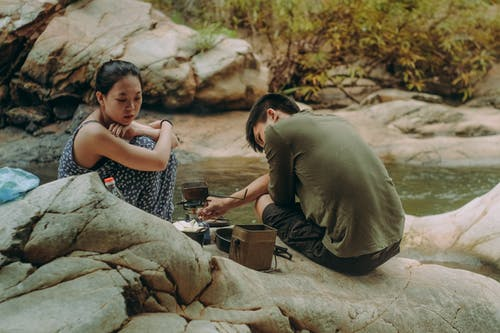 一對, 亞洲人, 人, 女人 的 免費圖庫相片