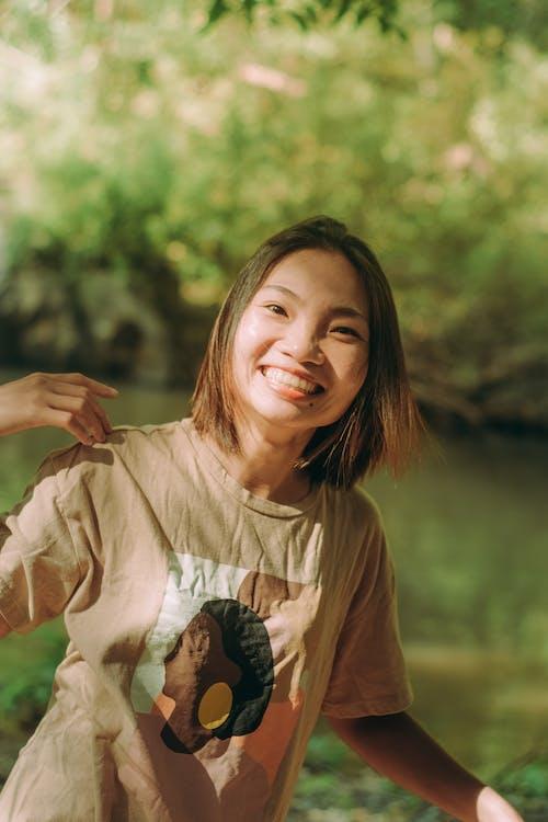 アウトドア, アジアの女性, アジア人