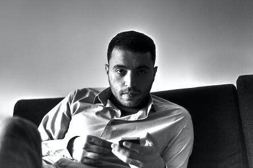 Imagine de stoc gratuită din alb-negru, portret