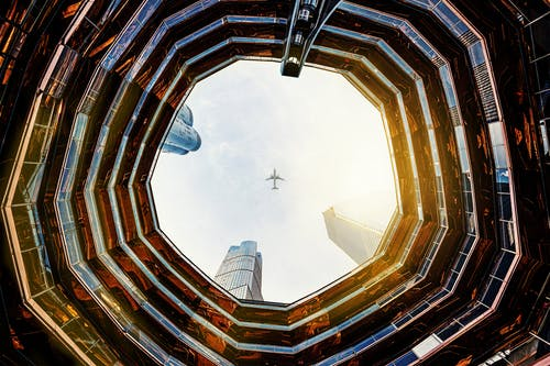 Free stock photo of airplane, architecture, building