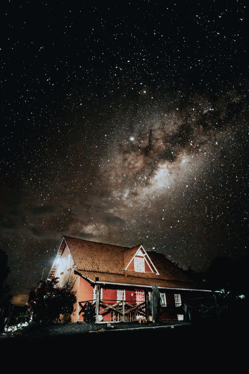 Brown House and Milky Way