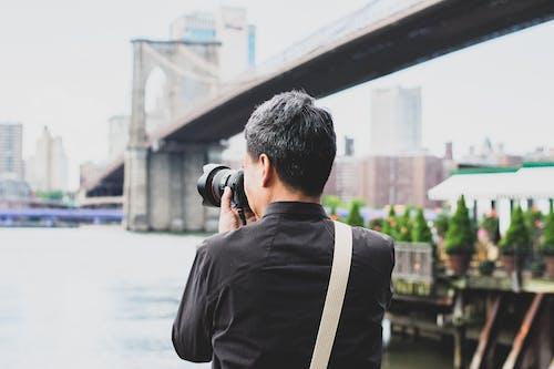 Photos gratuites de appareil photo, appareil photo reflex numérique, brouiller, centre-ville
