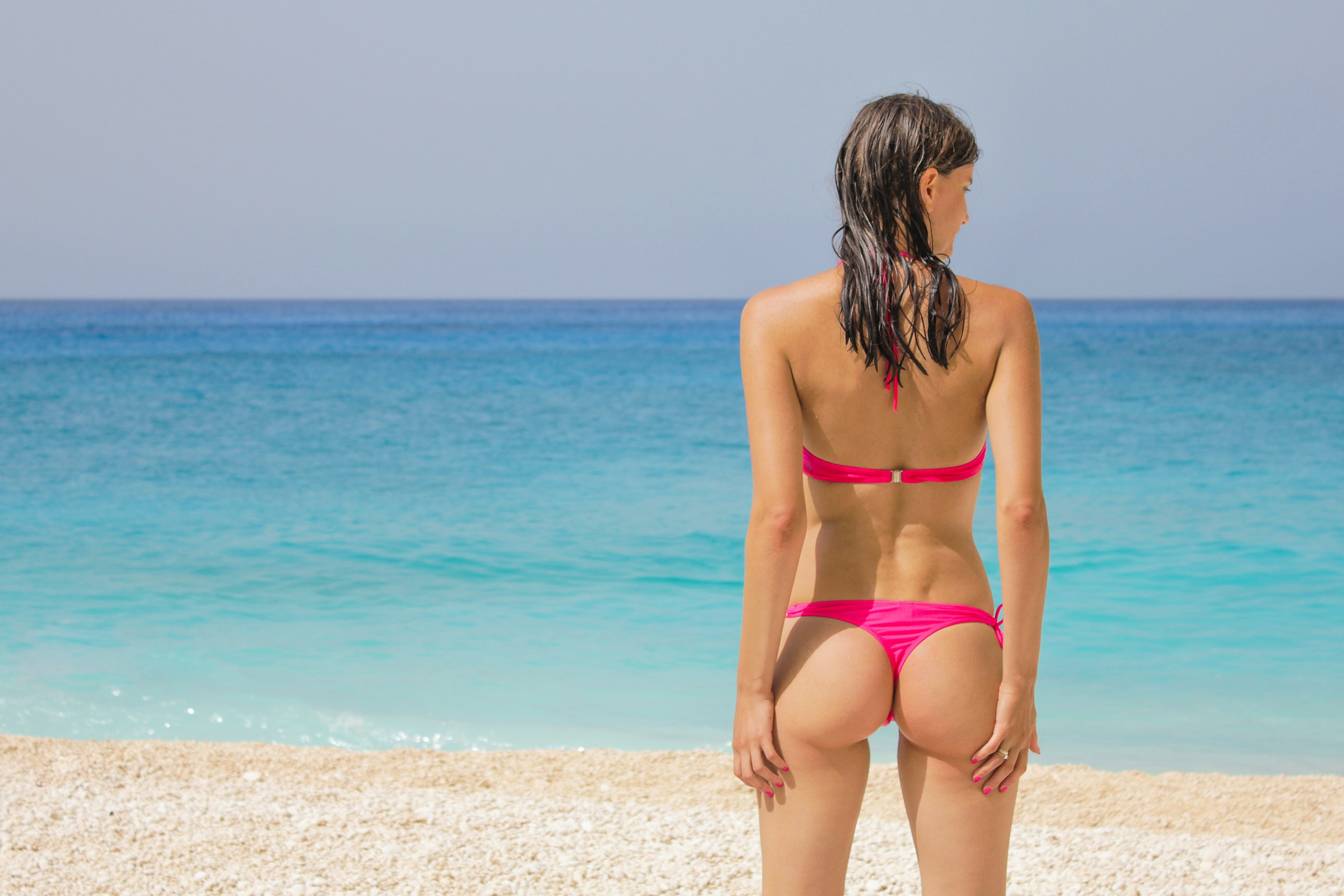 free stock photo of ass, beach, bikini